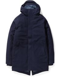 Norse Projects - Rokkvi 4.0 Waterproof Wool Dark Navy - Lyst