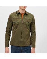 67228585f8d Pretty Green Robinia Overshirt in Green for Men - Lyst