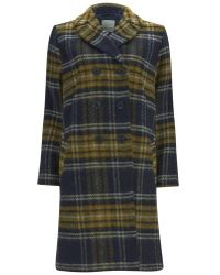 Great Plains - Double Breasted Coat - Lyst
