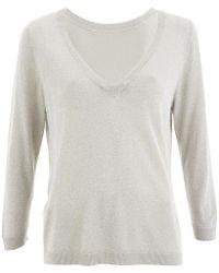 SELECTED - Pelja 3/4 Knitted Top - Lyst