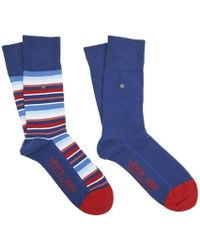 Levi's - 168sf Regular Cut Stripe 2 Pack Socks - Lyst