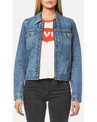 Levi's - Women's Orange Tab Ot Zip Front Trucker Jacket - Lyst