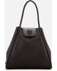 86a1aac0cb3 Armani Exchange - Medium Shopper Tote Bag With Logo Flap - Lyst