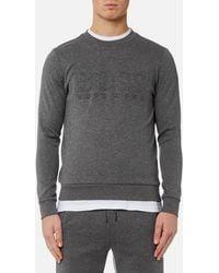 BOSS Green - Men's Salbo Large Logo Sweatshirt - Lyst