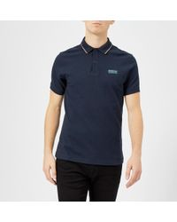 Barbour - Navy Road Polo Shirt - Lyst