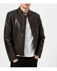 HUGO - Leras Leather Jacket - Lyst