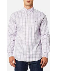 GANT - Oxford Check Button Down Shirt - Lyst