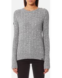 Superdry - Croyde Cable Knitted Jumper - Lyst