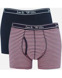 Jack Wills - Chetwood 2 Pack Jersey Boxer Shorts - Lyst