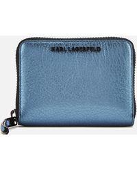 Karl Lagerfeld - K/kool Small Zip Wallet - Lyst