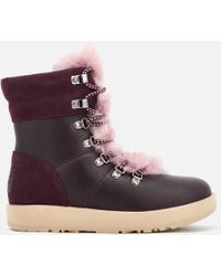 UGG - Viki Waterproof Leather Lace Up Boots - Lyst