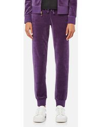Juicy Couture - Track Velour Zuma Trousers - Lyst