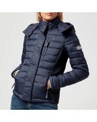 Superdry - Fuji Slim Double Zip Hood Coat - Lyst