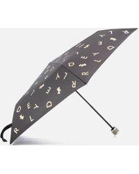 Radley - All That Glitters Mini Telescopic Umbrella - Lyst