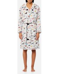 Joules - Idlewhile Fluffy Inner Dressing Gown - Lyst