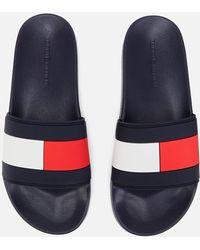 e243cd3d Tommy Hilfiger - Essential Flag Pool Slide Sandals - Lyst