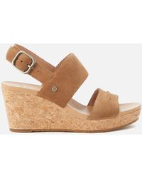 UGG - Elena Ii Double Strap Wedged Sandals - Lyst