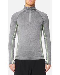 Athletic Top Sport Zip Henley 12 ChxtsQrd