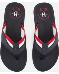 Tommy Hilfiger - Mix Webbing Beach Sandals - Lyst