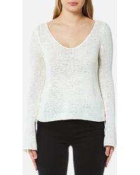 MINKPINK - Beau Lace Side Sweater - Lyst
