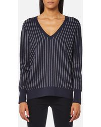 SELECTED - Pema Long Sleeve V-neck Jumper - Lyst