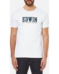 Edwin - Men's Logo Type 2 Tshirt - Lyst