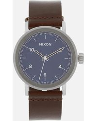 Nixon - The Stark Leather Watch - Lyst