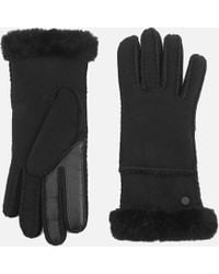 UGG - Sheepskin Exposed Slim Tech Gloves - Lyst
