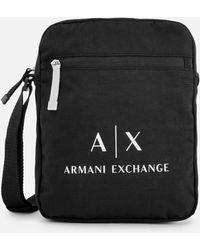 ef9c92c848ef Armani Exchange - Contrast Logo Cross Body Bag - Lyst