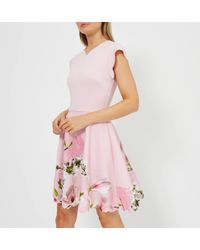 Ted Baker - Grettae Harmony Skater Dress - Lyst