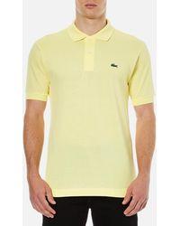 Lacoste - Short Sleeve Pique Polo Shirt - Lyst