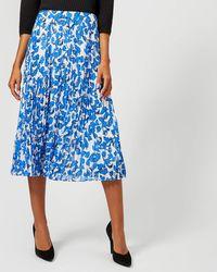 Whistles - Cordillia Print Pleated Skirt - Lyst