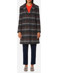 Gant | Checked Mohair Coat | Lyst