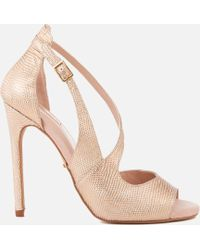 Carvela Kurt Geiger | Geep Metallic Heeled Sandals | Lyst