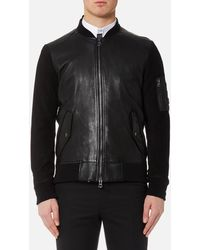 BOSS Orange - Jixx Leather Jacket - Lyst