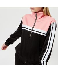 Juicy Couture - Stripe Tricot Half Zip Track Jacket - Lyst