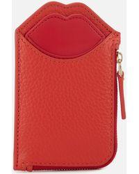 Lulu Guinness - Grainy Leather Liliana Wallet - Lyst