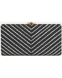 Lulu Guinness - Diagonal Stripe Flat Frame Purse - Lyst