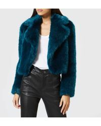 MICHAEL Michael Kors - Cropped Fur Jacket - Lyst