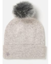 UGG - Luxe Cuff Hat With Oversized Toscana Pom - Lyst