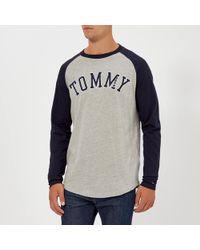 e6fa0a4a5 Tommy Hilfiger - Tjm Raglan Baseball Long Sleeve T-shirt - Lyst