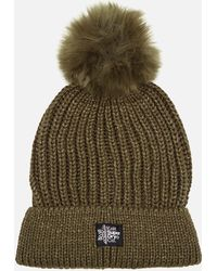 Superdry - Aries Sparkle Fur Bobble Hat - Lyst