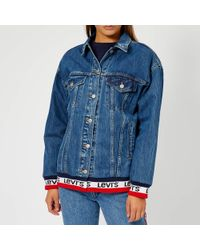 Levi's - Baggy Sport Tape Trucker Jacket - Lyst