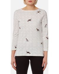 Joules - Harbour Print Jersey Top - Lyst