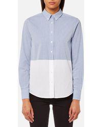 GANT - Chambray Block Shirt - Lyst