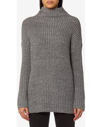 Joules - Prunella Ribbed Funnel Neck Jumper - Lyst