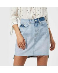 Superdry - Denim Mini Skirt - Lyst