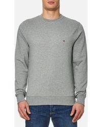 Tommy Hilfiger - Grey Jacquard Dotted Sweatshirt - Lyst