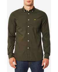Lyle & Scott - Oxford Long Sleeve Shirt - Lyst
