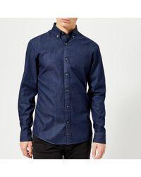 Michael Kors - Slim Fit Washed Denim Long Sleeve Shirt - Lyst